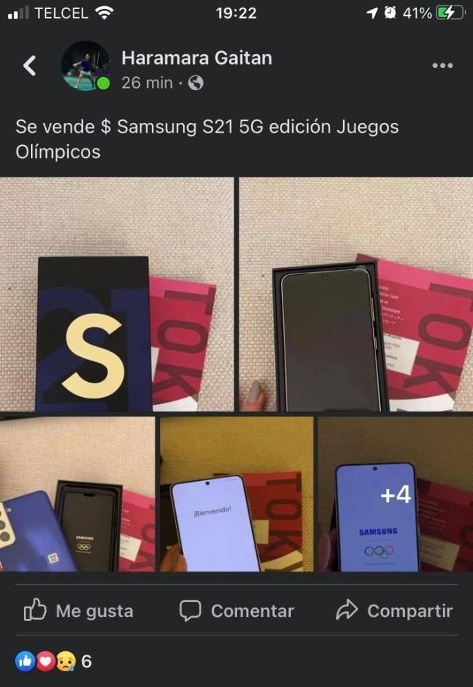 Hamara Gaitan vende celular de tokio 2020